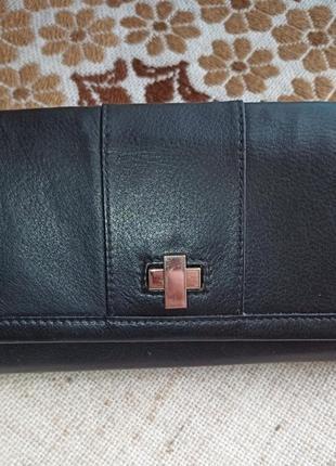 Кошелек кожаный гаманець шкіряний marks & spenser
