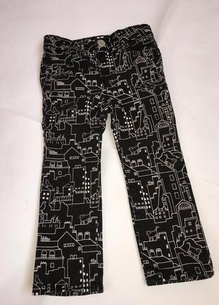 Фирменные котоновые штаны  2 годика gap