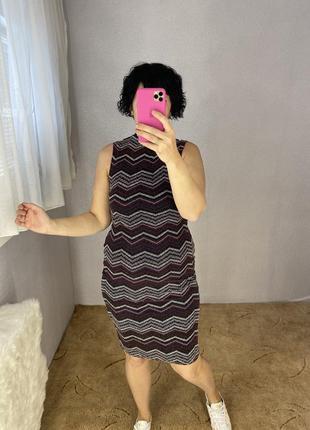 Красивое платье с люрексом