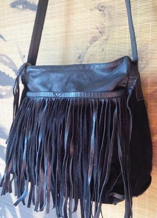 Стильная кожаная сумка кроссбоди leighton/  dorothy perkins/32×32×13.5 см.