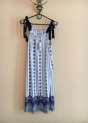 Батал большой размер новый легкий натуральный летний сарафан сарафанчик платье платьице плаття сукня
