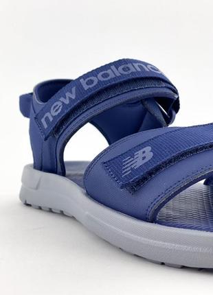 Стильные мужские летние сандали босоножки оригинал new balance синие
