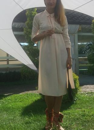 Персиковое платье lc waikiki