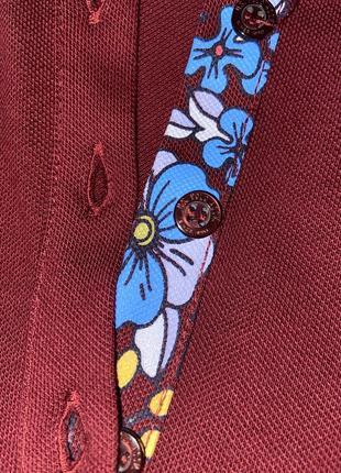 Polo бордового кольору5 фото