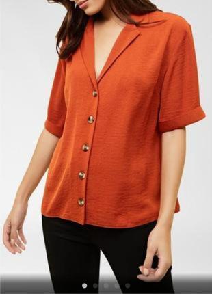 Стильная кирпичная блуза/ топ