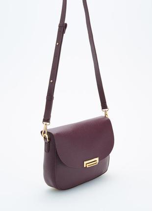 Стильная маленькая сумочка сумка  клатч с длинными ручками бордовая марсала бургундии