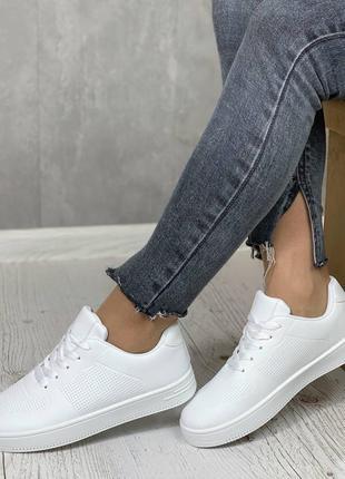 Распродажа кеды👟перфорация кроссовки на платформе низкой подошве без каблука