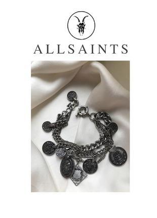 Allsaints массивный браслет с монетами.