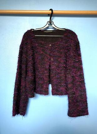 Кардиган, вязаный свитер в винтажном стиле, винтаж