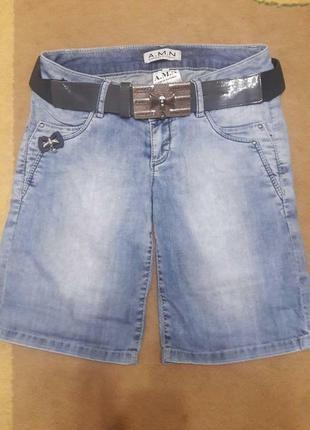 Новые джинсовые шорты a m.n. (турция)