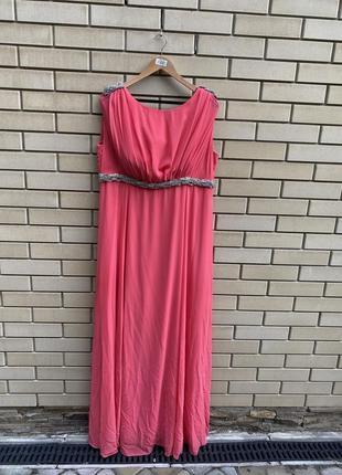 Вечернее шикарное длинное платье нарядное платье на выпускной