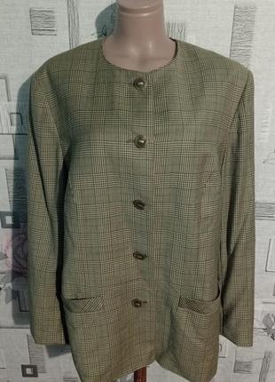 Шерстяной пиджак жакет peter hahn