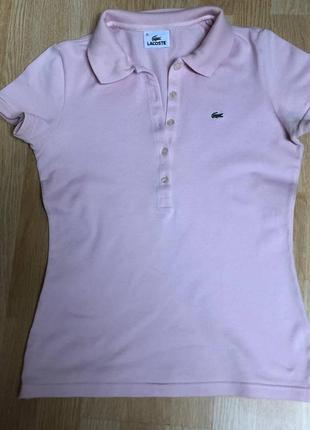 Lacoste розовое поло, ращмер 38/м