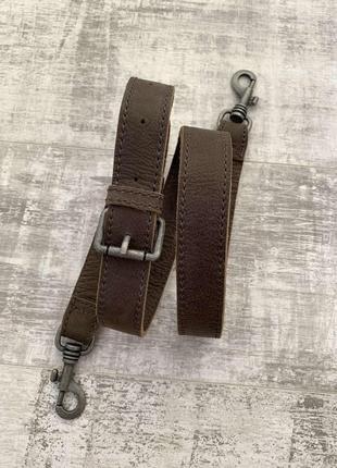 Кожаный плечевой ремень для сумки натуральная кожа