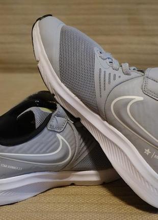 Кроссовки беговые детские серебристо-серого цвета  nike star runner 2.0  33 р.