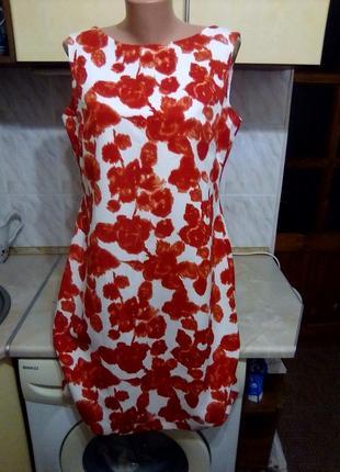 Красивое фирменое платье кокон баллон футляр, отлично под жакет