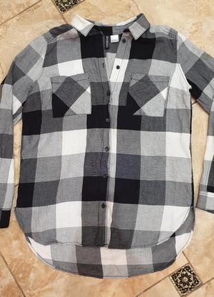 Рубашка женская рубашка в кретку рубашка хлопковая