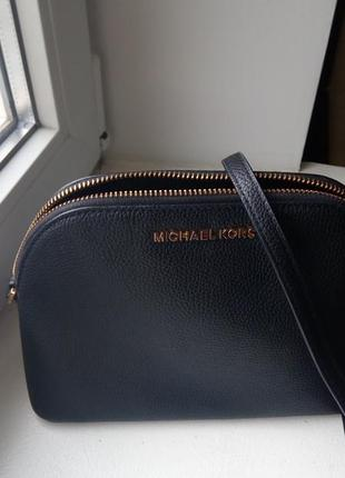 Шкіряна чорна сумка michael kors adele medium, оригінал
