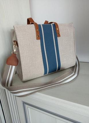Летняя сумка шоппер .