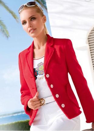 Rivamonti шикарный насыщеный красный жакет пиджак кофта шерсть