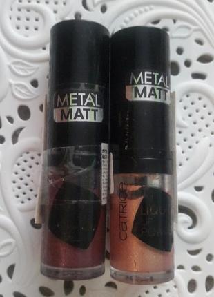 Жидкая помада с эффектом пудры catrice liquid powder metal matt