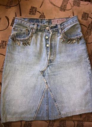 Мега крутая джинсовая юбка levi's