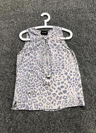 Шикарная шелковая блуза без рукав топ майка the kooples