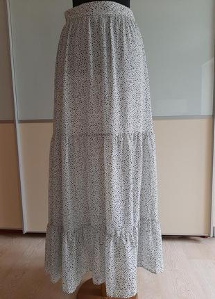 Ярусная длинная юбка,  eur38