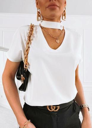 Блуза женская, блуза чёрная, блуза белая