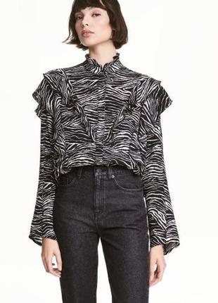 Блузка с рюшами h&m