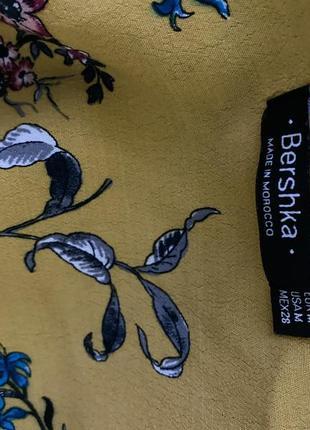 Желтый топ в цветы6 фото