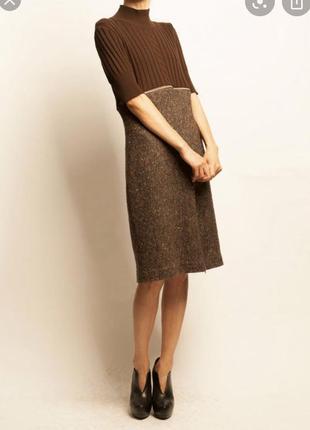 Люкс шерстяное платье mugler