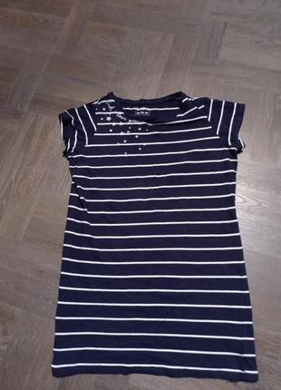 Платье в полоску, платье футболка