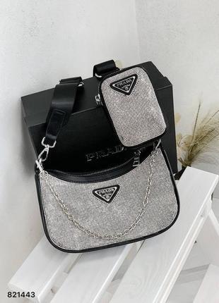Женская сумка   россыпь камней