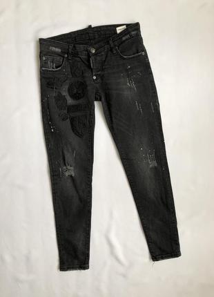 Джинси dsquared2 patch logo women's jeans