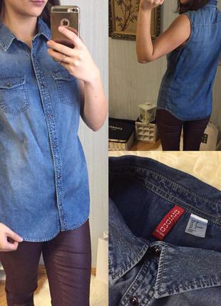 Джинсовая рубашка h&m  размер: 38 (m)