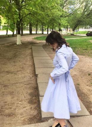 Платье в голубую полосочку autograph от mark & spencer