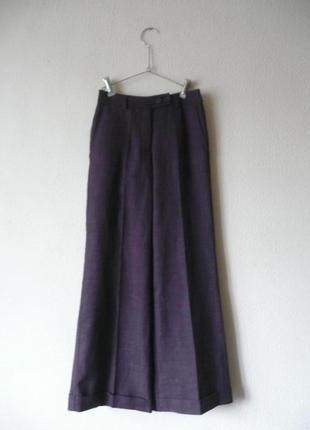 Классические штаны клеш цвета марсала бордовые от h&m