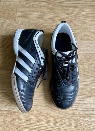 Кожаные кроссовки футзалки adidas adinova 38 р. 24,5 стелька