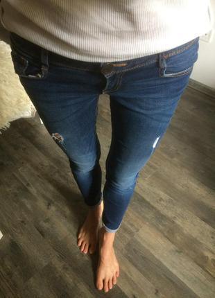 Крутые джинсы узкие скинни