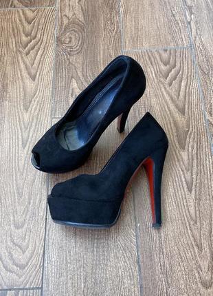 Туфли туфлі лабутени лабутены замшеві замшевые