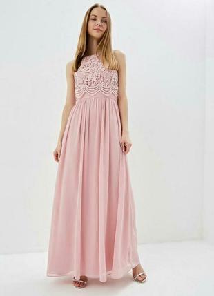 Шикарное платье chi chi london кружево/фатин на выпускной/свадьбу/сукня на випускний мережево/весілля/святкова