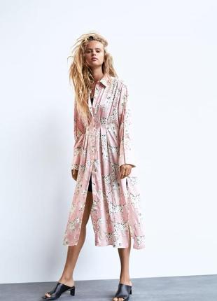 Платье рубашка с долматинцами zara