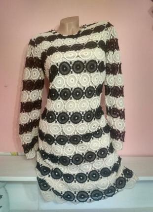Платье с вязаным ажуром
