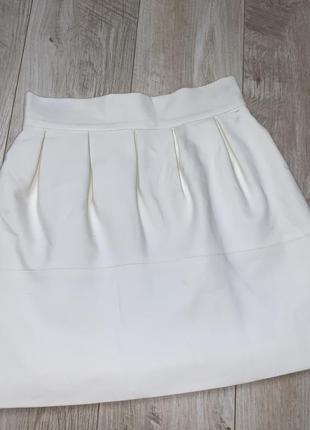 Стильная белая юбка от zara размер хс-с