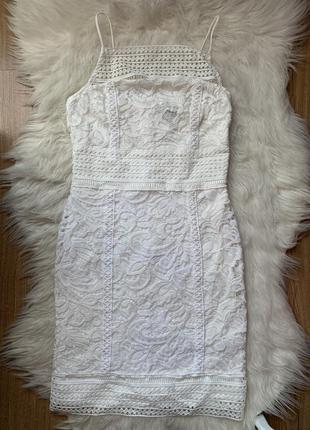 Летнее белое платье кружевное 🤍