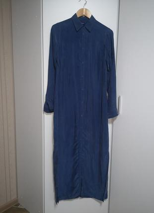 Платье рубашка макси zara h&m