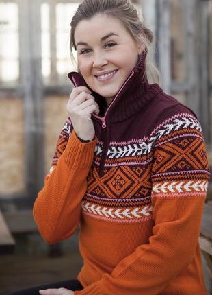 Коллекция шерстяной свитер меринос kari traa норвегия l2 фото