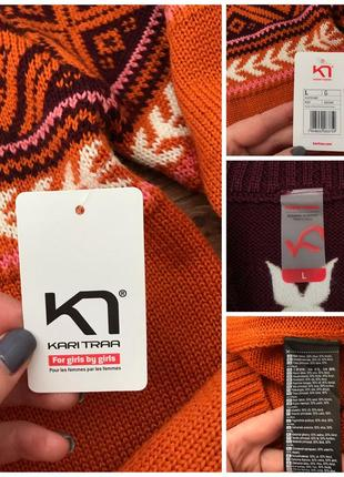 Коллекция шерстяной свитер меринос kari traa норвегия l10 фото