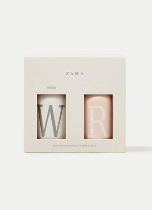 Made in spain! zara white 100 ml + rose 100 ml
